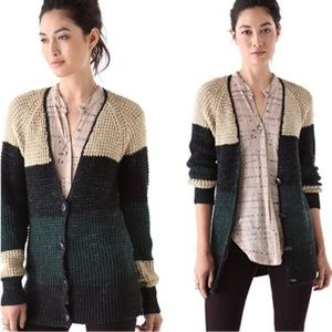 Free People Lake Tahoe Colorblock Cardigan Sweater